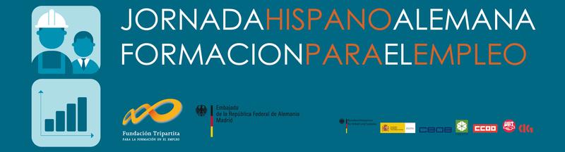 Cartel de la Jornada hispano-alemana sobre formación profesional para el empleo